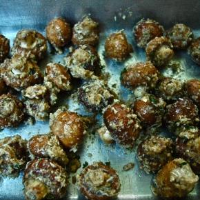 Breaded and Baked ParmesanMushrooms
