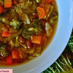 Kale Soup & Kale QuinoaWraps